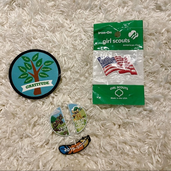 Girl Scouts American flag patch random patches